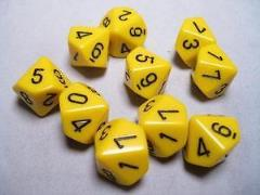 d10 Yellow w/Black (10)