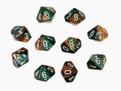 D10 Copper & Green w/White (10)