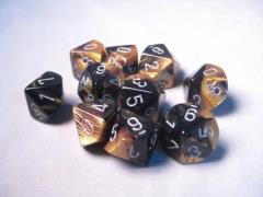 D10 Black & Gold w/Silver (10)
