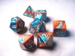 Poly Set Copper & Teal w/Silver (7)