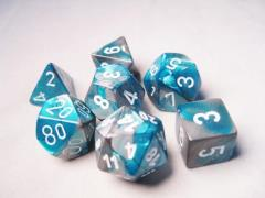 Poly Set Steel & Teal w/White (7)
