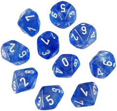 D10 Sky Blue w/White (10) - Second Edition