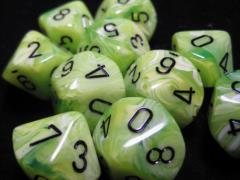 d10 Bright Green w/Black (10)
