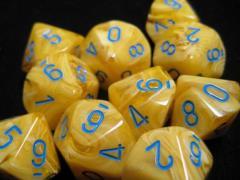 D10 Yellow w/Blue (10)