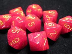 D10 Red w/Yellow (10)