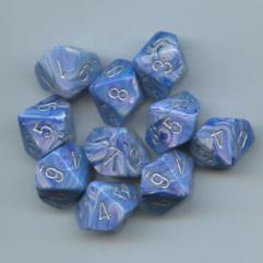 D10 Blue w/Silver (10)