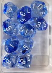 D10 Dark Blue w/White Black (10)