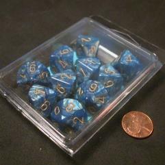 D10 Blue w/Gold (10)