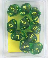 d10 Maple Green w/Yellow (10)