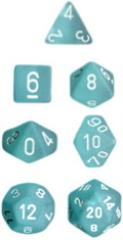Poly Set Teal w/White (7)