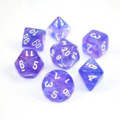 Poly Set Purple w/White (7) (1st Edition)