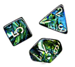 Poly Set Jade w/Gold (7)