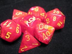 Poly Set Red w/Yellow (7)