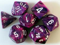 Poly Set Violet w/White (7)