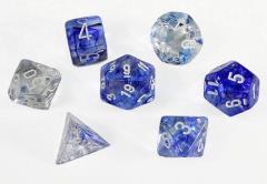 Poly Set Dark Blue w/White (7)