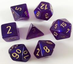 Poly Set Royal Purple w/Gold (7) (2nd Edition)