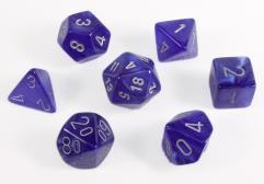 Poly Set Blue w/Silver (7)