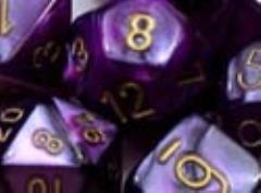 Poly Set Purple w/Silver (7)