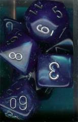 Poly Set Bright Blue w/Silver (7)