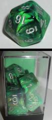 Poly Set Green w/Silver (7)