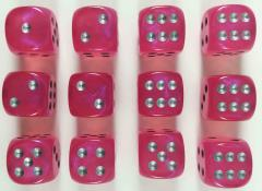 d6 16mm Pink w/Silver (12) (2nd Edition)
