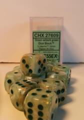 D6 16mm Green w/Dark Green (12)