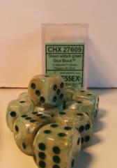 d6 16mm Green w/Dark Green (12)