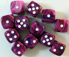D6 16mm Violet w/White (12)