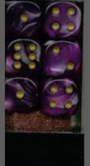 D6 16mm Purple w/Silver (12)