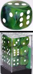 D6 16mm Green w/White (12)