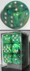 D6 16mm Green w/Silver (12)