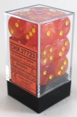 d6 16mm Orange w/Yellow (12)