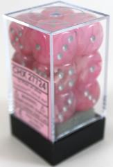 d6 16mm Pink w/Silver (12)