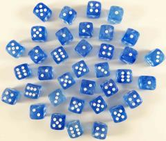 d6 12mm Sky Blue w/White (36) (2nd Edition)