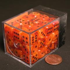 D6 12mm Orange w/Black (36)