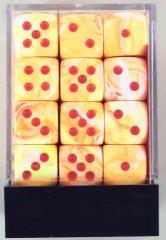 d6 12mm Sunburst w/Red (36)