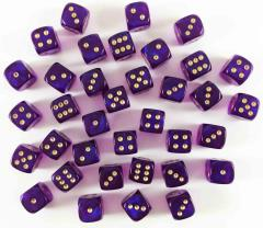 d6 12mm Royal Purple w/Gold (36) (2nd Edition)