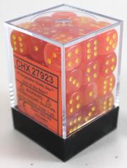 d6 12mm Orange w/Yellow (36)