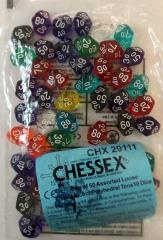 Translucent Polyhedral D10 w/00-90 Dice (50)