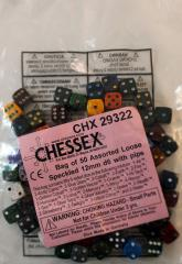 Speckled 12mm D6 w/Pips Dice (50)