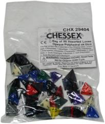 Opaque Polyhedral D4 Dice (50)
