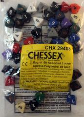 Opaque Polyhedral d8 Dice (50)