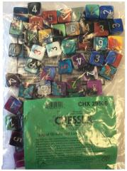 Assorted Gemini d6's w/Numbers (50) (16mm)