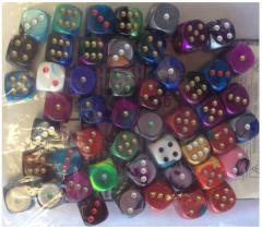 Assorted Gemini d6's w/Pips (50) (16mm)