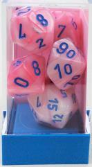 Poly Set Lustrous Pink w/Blue (7)