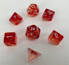 Poly Set Nebula Red w/Silver (7)