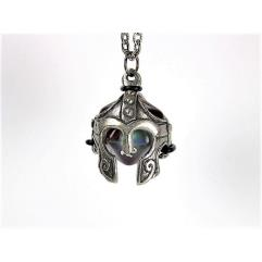 Pendant d20 Helmet w/Old Silver Finish