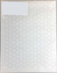 """Double-Sided 16mm Hex Mapping Sheets - 22"""" x 34"""""""