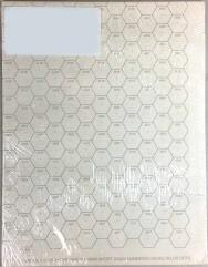 """Double-Sided 19mm Numbered Hex Mapping Sheets w/Line of Sight Dot - 22"""" x 34"""""""