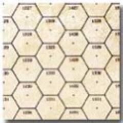 """BattleMat - 23 1/2 x 26"""" Oyster Vinyl Game Mat - 33mm Numbered Hexes"""
